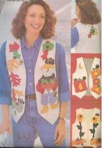 Butterick 5113 - Misses' Fall Vests - Applique & Embroidered - All Sizes