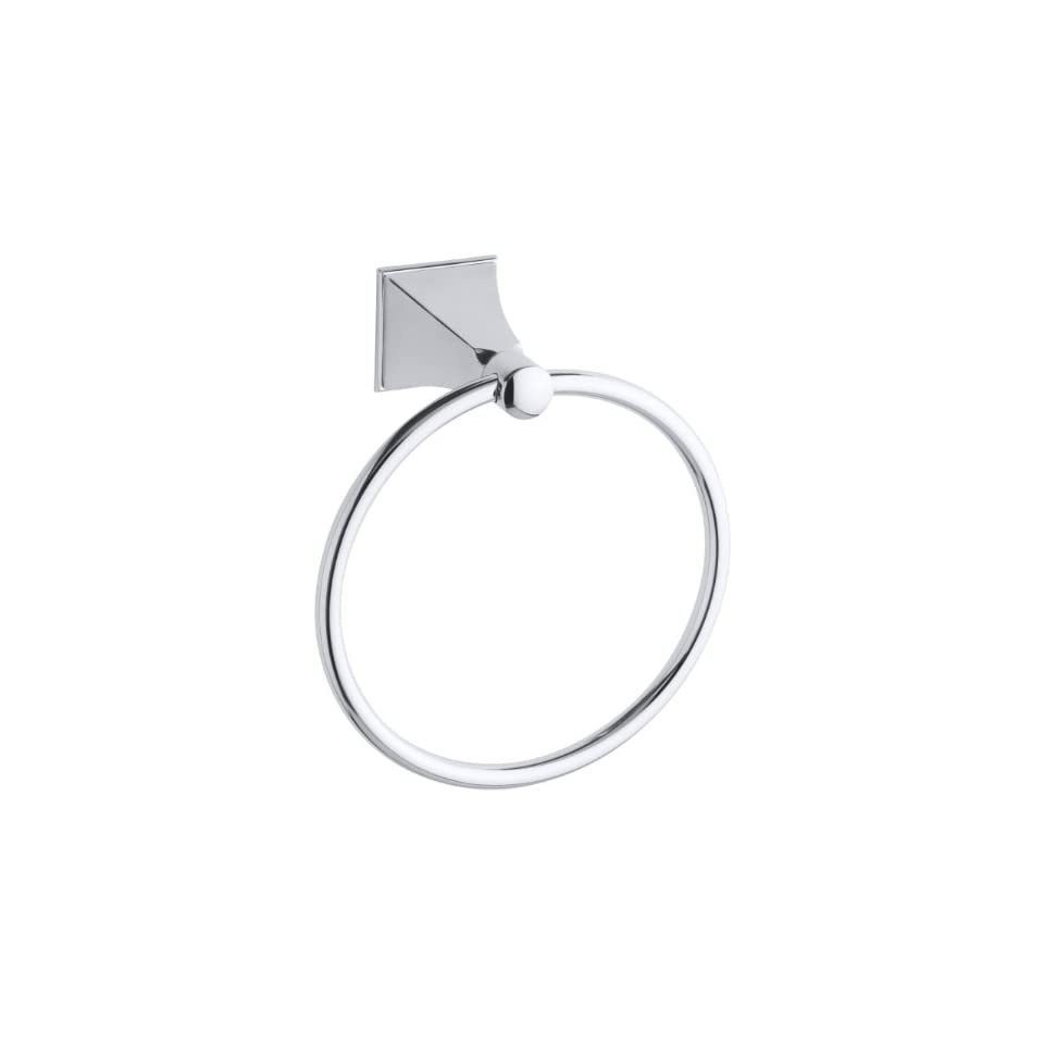 KOHLER K 487 CP Memoirs Towel Ring with Stately Design, Polished Chrome