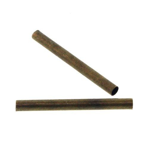 2x20mm 100pc Antique Brass Plated Brass Hollow Tube 66046AB