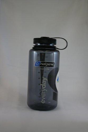 Nalgene Wide Mouth Bottle - 32 Oz., Gray W/ Black Cap front-428845