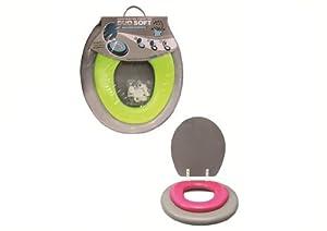 ABATTANT WC 2 EN 1 ADULTE ET ENFANT - ROSE ET GRIS - SB10939
