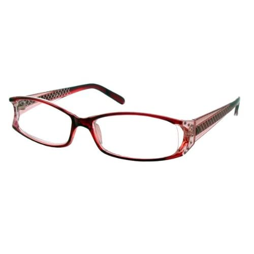 calabria rasberry etched reading glasses