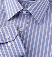"2"" Shorter Pure Cotton Ultimate Non-Iron Bold Striped Shirt"