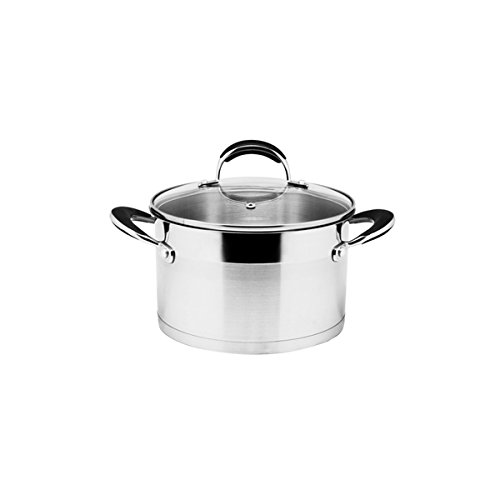 Prime Cook Stainless Steel 3-quart Stock Pot with Glass Lid (7qt Crock Pot Ceramic Replacement compare prices)