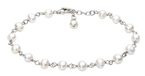 Dew Bracelet Pearl & Chain of 18cm + 3cm Extender 78303FP010