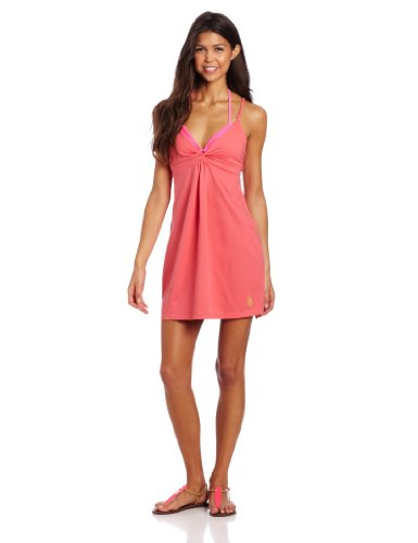 U.S. Polo Assn. Juniors Cover Up Dress Features Twist Front, Grapefruit, Medium Picture