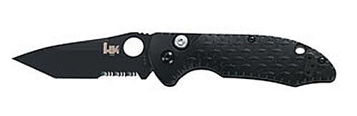Benchmade Hk Knives Soldat Knife Combo With Edged Coated Blade (Black, 7.7-Inch)