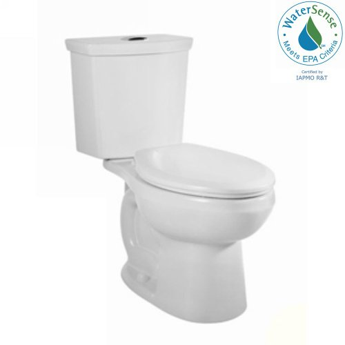 American Standard 2889.216.020 H2Option Siphonic Dual Flush Round Front Two-Piece Toilet, White image