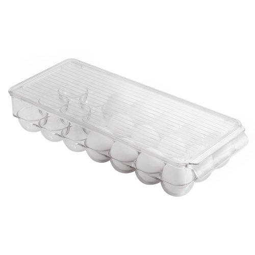 InterDesign Kitchen Storage Egg Holder, Clear