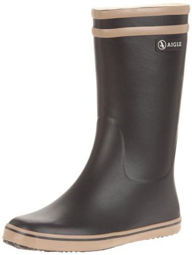 Aigle Malouine BT 24799, Stivali da pioggia donna, Nero (Noir (Noir/Camel)), 38