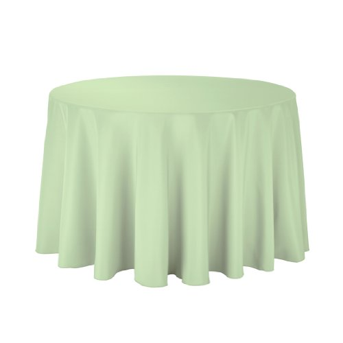 Linentablecloth Round Polyester Tablecloth, 108-Inch, Reseda front-451072