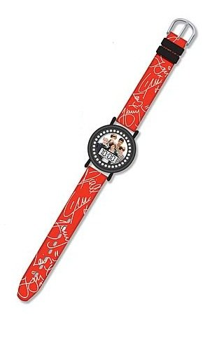 1D One Direction Red and Black LCD Watch
