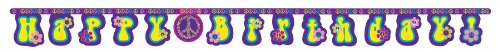 Creative Converting Groovy Girl Jointed Happy Birthday Banner - 1