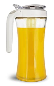 Cuisaid Carafe Pitcher With Cooling Tube (Glass 1 Liter / White)