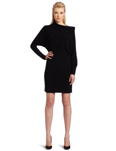 KAMALIKULTURE Women's All In One Dress, Black, Small