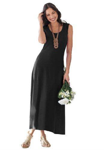 Jessica London Women's Plus Size Maxi Tank Dress Black,20