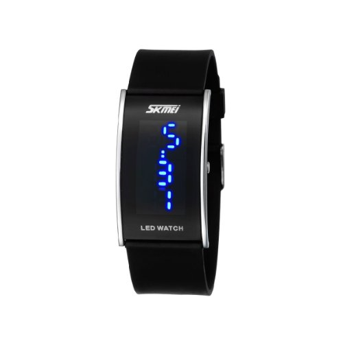 Miniblue Led Waterproof Watches Black