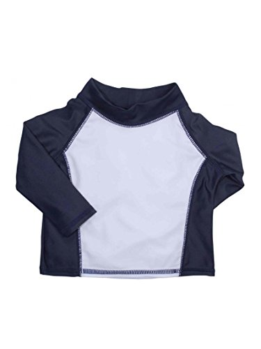 Boys Long Sleeve Baby Rash Guard Upf 50+ Infant Swim Shirt By Goldbug - Navy - 0-6 Mths front-222072