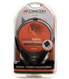 Digicom IP-204 Digital Stereo Sound Self-Adjusting Headphones (Medium)