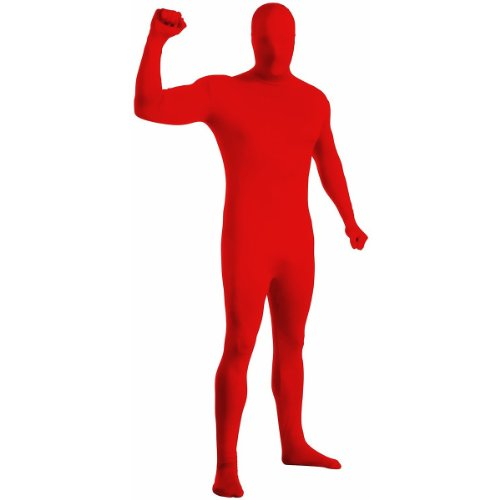 2nd Skin Full Body Suit Adult Costume Red - Small