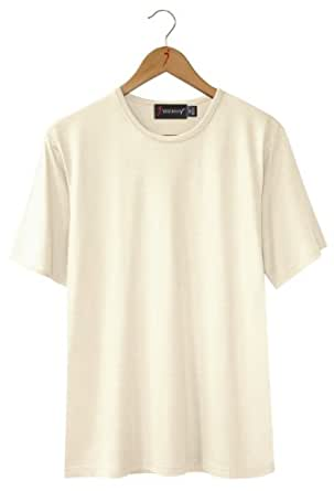 Silk blend short sleeve crew neck t shirt for men for Mens silk shirts amazon
