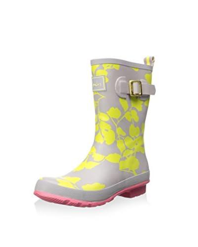 Joules Women's Mollywelly Short Rain Boot  [Yellow Flower]