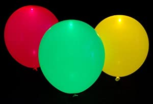 illooms LED Light up Balloons 15 Mixed color Party Pack from illoom