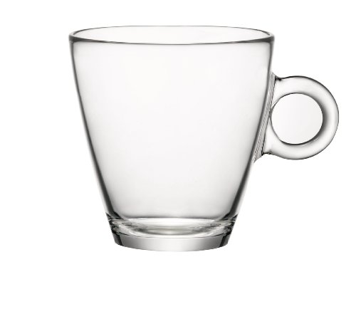Bormioli Rocco Easy Bar Tea Cups, Clear, Set Of 12