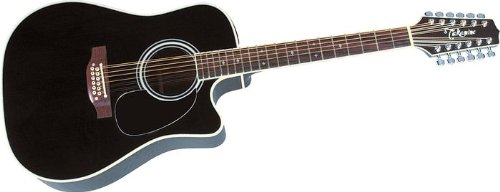 Takamine Pro Series Ef381Sc Dreadnought 12 String Acoustic Electric Guitar, Natural With Case