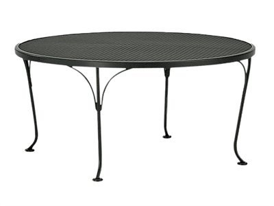 "Woodard Mesh Wrought Iron 36"" Round Coffee Patio Table"