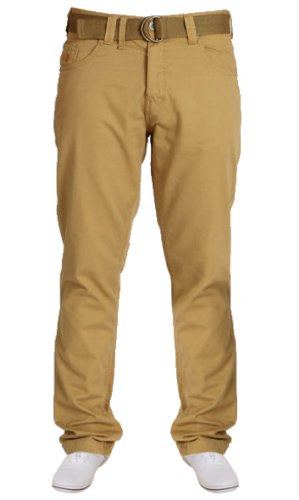 New Mens Smith & Jones Straight Leg Belted Chino Style Jeans. Style - Eastwood. Colour - Cobble Stone. Waist Size - 32