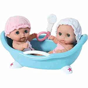 lil 39 cutesies twins with bathtub toys games dolls. Black Bedroom Furniture Sets. Home Design Ideas