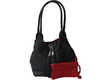 Reversible Leather And Suede Shoulder Bag 117