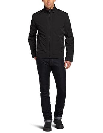 (超帅)Calvin Klein Men's Basic Logo Outerwear卡文克莱时尚立领休闲夹克 $66.96