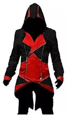 Assassin's Creed 3 Faux Leather Jacket in Red Black & colour Sale = Sale Start from 45 € Nero  nero