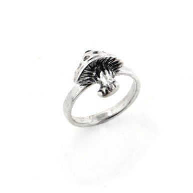 Mushroom Ring Toddler Child Kids Sterling Silver Size 2(Sizes 1,2,3,4)