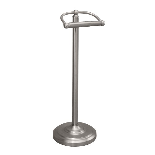 Details about Gatco 1436SN Pedestal Toilet Paper Holder, Satin Nickel ...