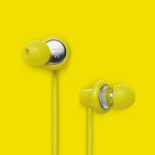 Urbanears Kransen Plus Yellow Earphones Earbuds Headphones Mic Remote 04090927