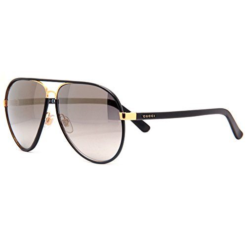 GUCCI GG 2887/S UZAVD Black Brown Aviator Sunglasses 61mm