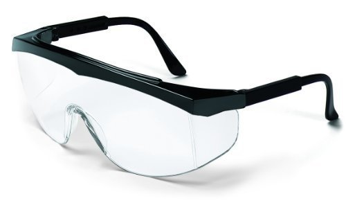 c68607f690 MCR Crews SS110 Stratos Safety Glasses Black Frame Clear Lens 1 Pair by MCR  Safety
