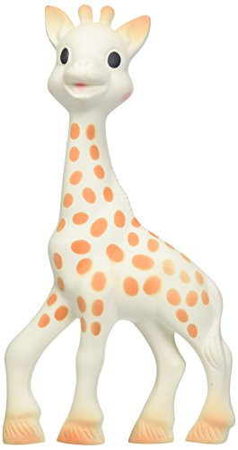 Vulli Sophie the Giraffe Teether, Brown/White