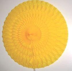 Cotillon d'alsace - Eventail alvéolé jaune