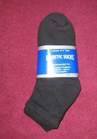 12 PR MENS GOLF DIABETIC CIRCULATORY SOCKS 10-13 NIP BL