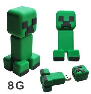 Minecraft Creeper Jj Monster 3d Usb Flash Drive 8g from A-factory