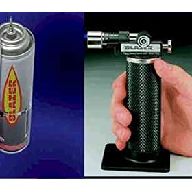 Blazer Self-Igniting Butane Micro-Torch The Original #GB2001 with 1 Can of Butane