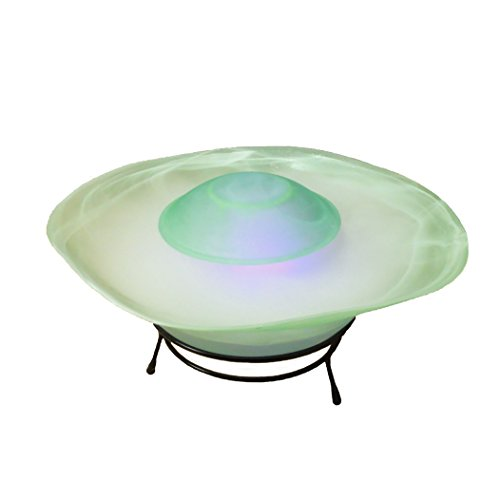 Multimode Tabletop Mist Maker Water Humidifier Fountain Lamp 12-LED Color Changing,Green (Sf-811g)