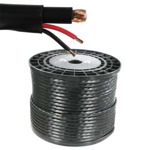 InstallerParts 500 ft RG59 w/2x18AWG Power Black CMR