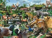 Cheap White Mountain What A Zoo! 300 pc Jigsaw Puzzle by White Mountain (B0028LPFSG)