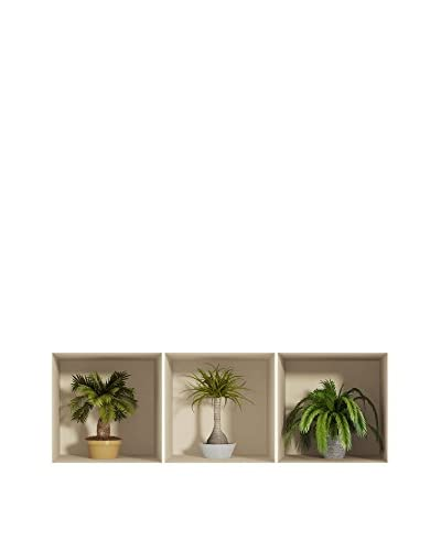 ZZ-Ambiance-sticker Set Vinilo Decorativo 3 Uds. 3D Effect Palms