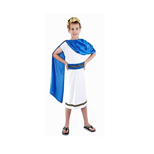[Kids Boys Roman Emperor King Toga Caesar Greek Childs Fancy Dress Costume Outfit World Book Day/Week (10-12 years) by] (Kids Greek Outfit)